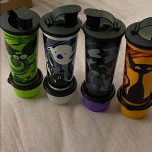 Spooky cups and canister set